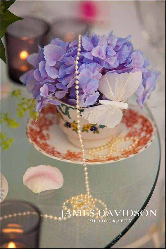 vintage wedding tea cup