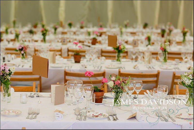 tressel tables at a wedding