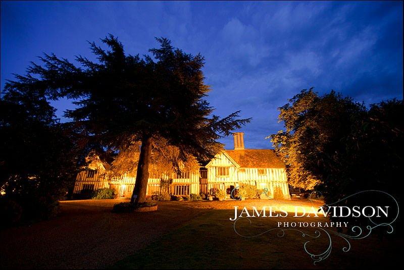 Priory Hall at night